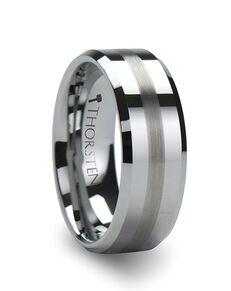 Mens Tungsten Wedding Bands W322-FBBS Tungsten Wedding Ring
