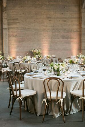 Elegant Loft Reception with Neutral Color Palette at Dogpatch Studios in San Francisco
