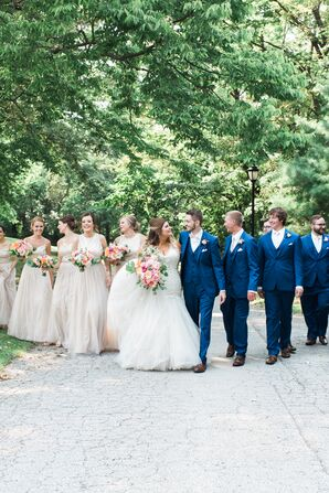 Classic Wedding Party at The Hawthorne House in Parkville, Missouri