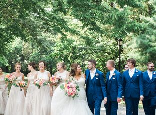 Romantic florals and a vibrant palette of pink and white turned Danielle Chadbourne (23 and a nursing student and a CNA) and Michael Hotujac's (24 and