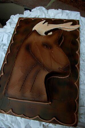 Deer Groom's Cake for Marine Corps Wedding