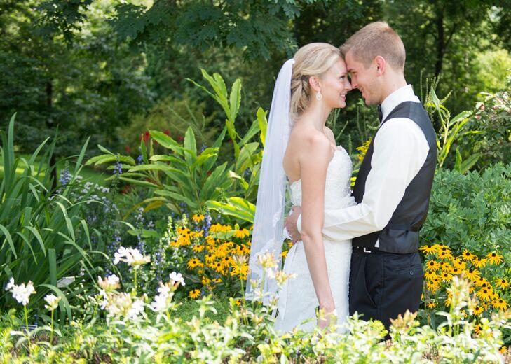 Newlyweds at Their Natural Garden Wedding