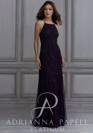 Adrianna Papell Platinum 40132 Halter Bridesmaid Dress