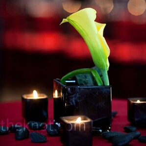 Modern Lily Centerpieces