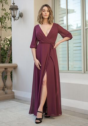 B2 Bridesmaids by Jasmine B233054 V-Neck Bridesmaid Dress