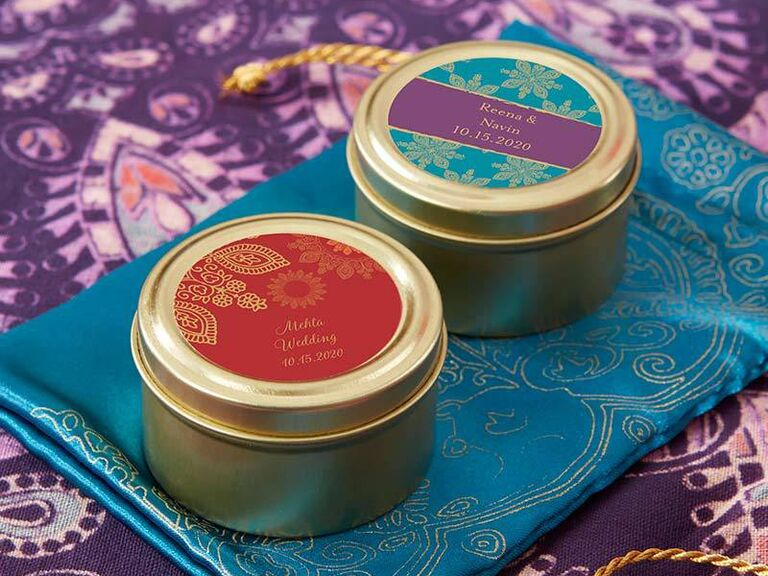 Inexpensive mint tins for wedding favors