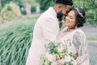 Because of the COVID-19 pandemic, Stephanie and Ravon were forced to scale back their wedding from 100 guests to an intimate celebration with just a f