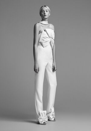 Viktor&Rolf Mariage 'CATHERINE' BOW PANTSUIT Sheath Wedding Dress