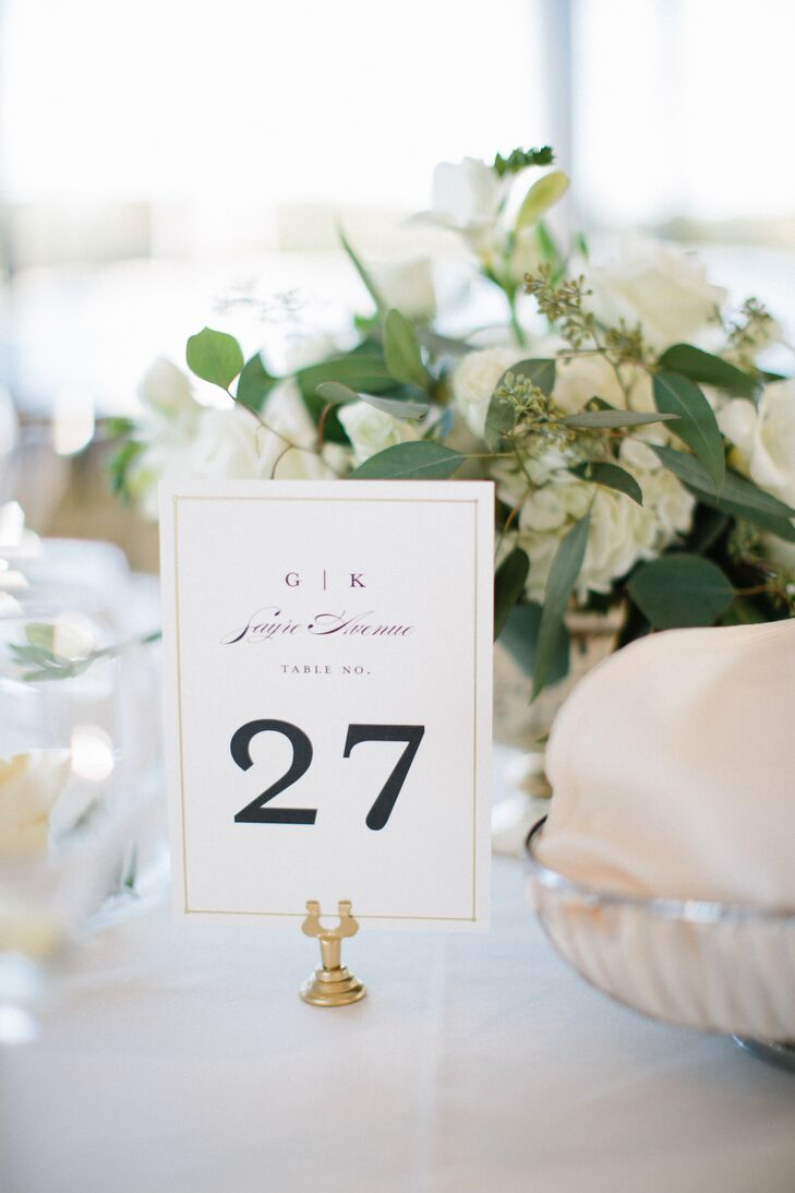 Classic Monogrammed Table Numbers