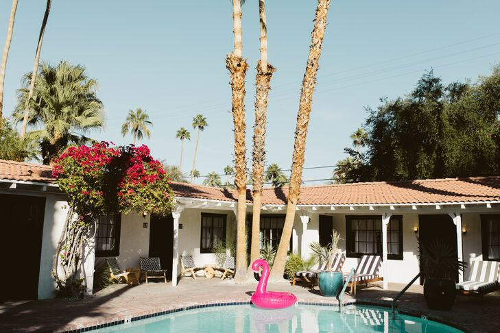 Poolside Cocktail Hour at Villa Royale in Palm Springs, California
