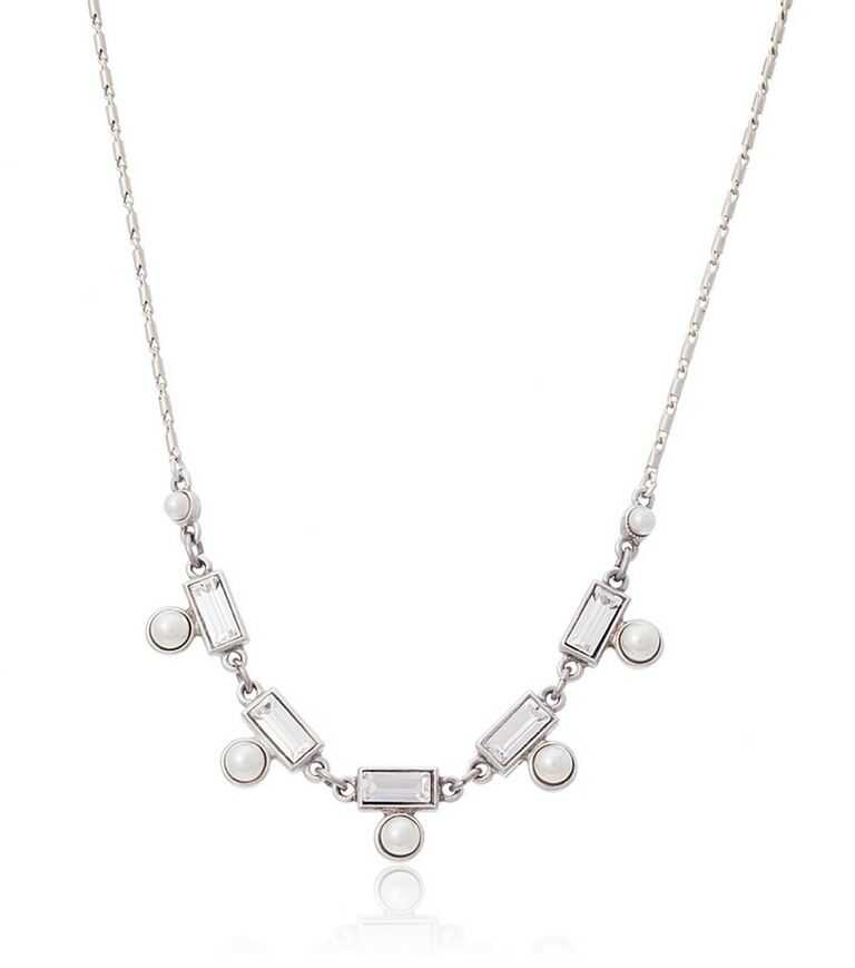 Thomas Laine Crystal and Pearl Necklace