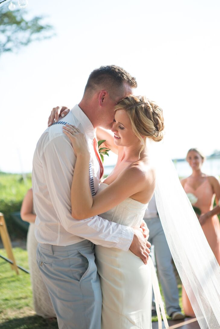 """The couple had their first dance song to Bob Dylan's Forever Young, which was especially sentimental because the groom was named after the singer. Khrysty says, """"Dylan and I used to dance to Forever Young in my kitchen when we got home from a night out when we first started dating, and always said it would be our wedding song."""""""
