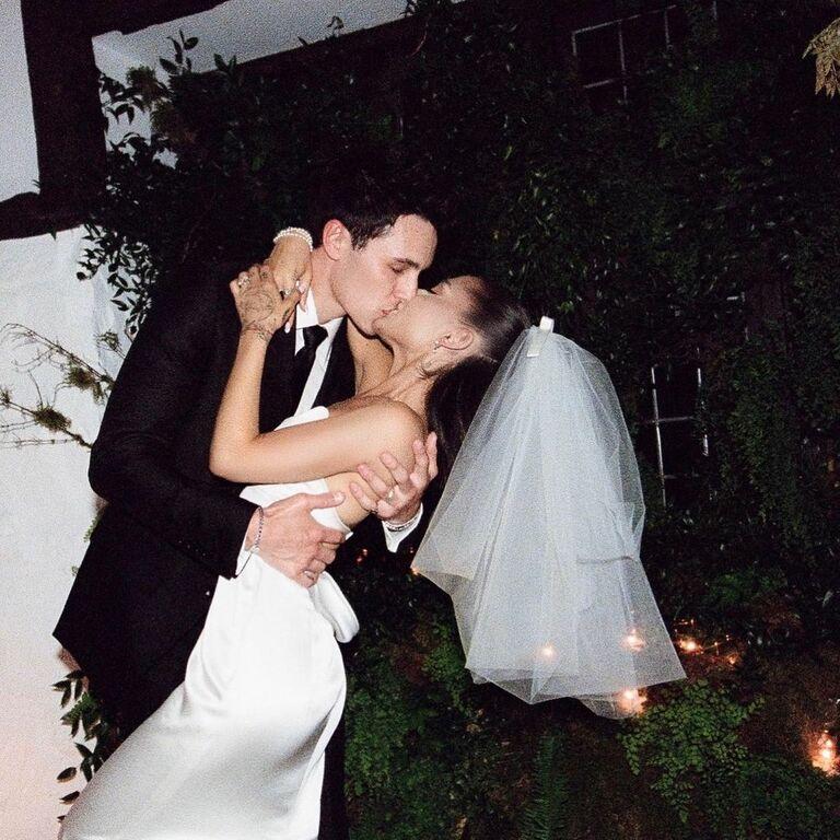 ariana grande dalton gomez wedding photos first kiss