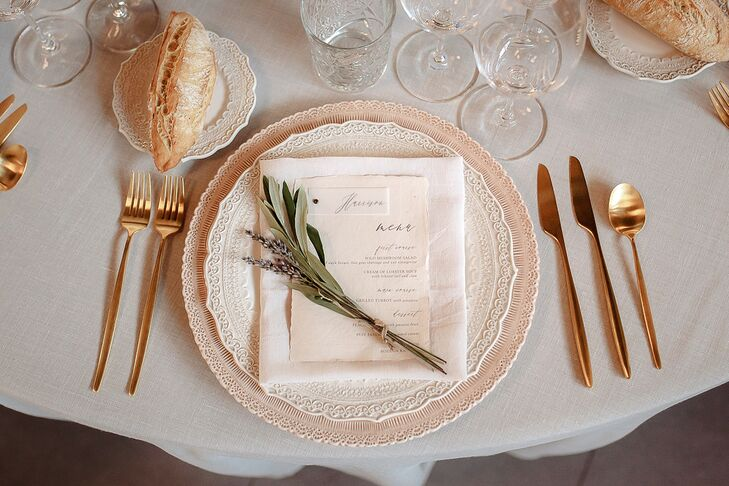 Romantic Place Setting with Lace-Edged Plates
