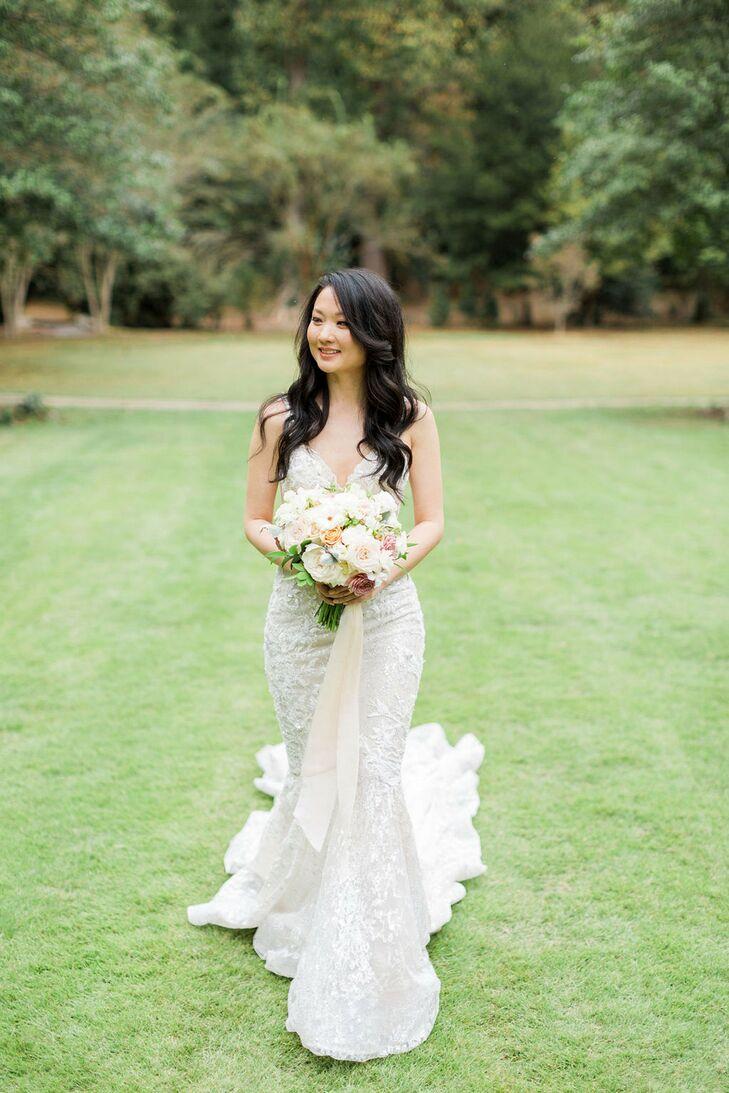 Bride Walking at Cator Woolford Gardens in Atlanta
