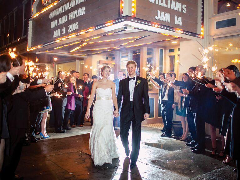 Cox Capitol Theatre wedding reception