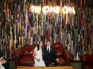 Modern Tie Backdrop and Lights