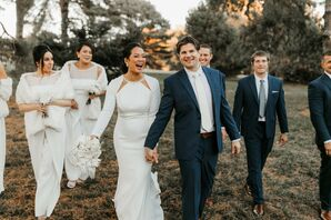 Wedding Party Portraits at Cherry Hall in Kansas City, Missouri