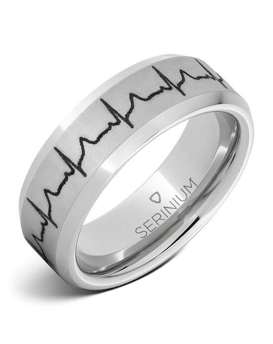 Serinium Collection Heartbeat Custom Engraved Ring Rmsa005911 Wedding