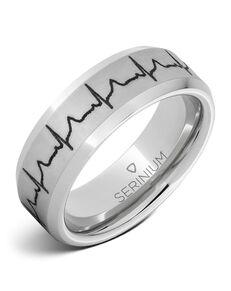 Serinium® Collection Heartbeat — Custom Engraved Serinium® Ring -RMSA005911 Serinium® Wedding Ring