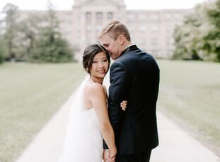 JiabeiChen and David Kaiser met and reside in New York City, but they decided to tie the knot in Ames, Iowa, David's home state. Jiabei was born in C