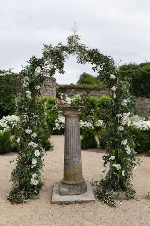 Eucalyptus and Cosmos Wedding Arch