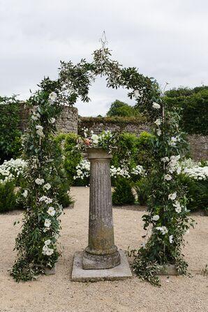 Eucalyptus and Cosmos Wedding Arch