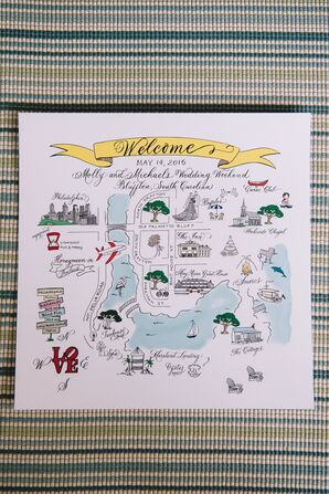 Whimsical Welcome Map