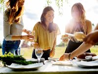 women at wine-tasting - Best Bachelorette Party Ideas for Foodies
