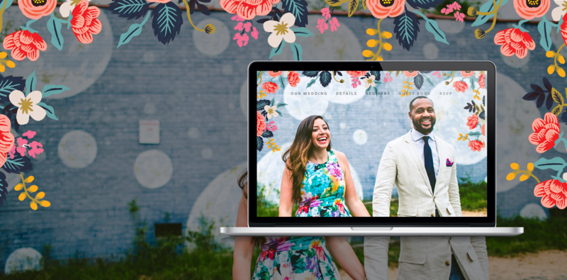 Make your wedding site your own! Build your free wedding website with your customized look and feel. Choose from a selection of design schemes and colors.