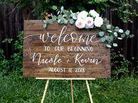 ​EvergreenDesignSigns wedding welcome sign - unique wedding signs