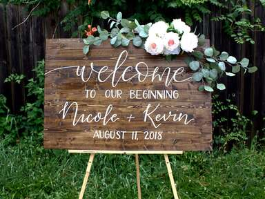 EvergreenDesignSigns wedding welcome sign - unique wedding signs