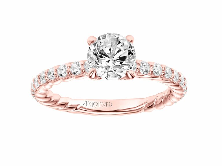 Artcarved Rose Gold Engagement Ring