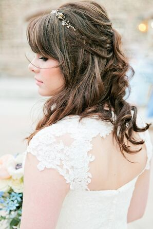 Sparkly Headband on Bride