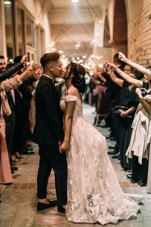 Traditional Sparkler Exit at A Simple Affair in Las Vegas, Nevada