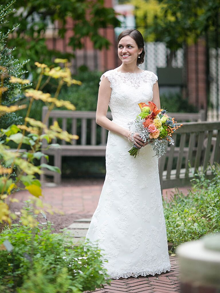 Mori Lee lace wedding gown