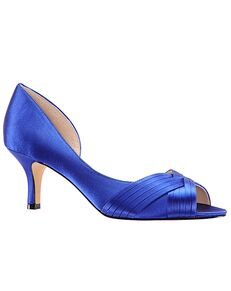 Nina Bridal Contesa_Electric Blue-Satin Black, Blue, Gold, Ivory, Pink, Red, Silver, Yellow Shoe