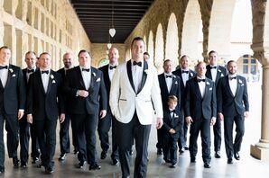 Formal Wedding, Groomsmen in Black Tuxedos