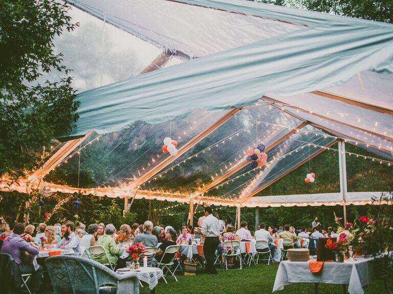 Backyard Wedding Ideas Clear Tent