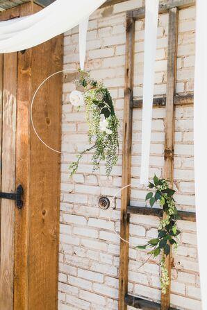 Hanging Bohemian Floral Hoops