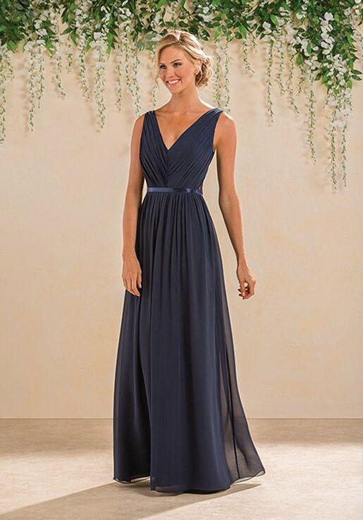 B2 By Jasmine B183014 V Neck Bridesmaid Dress