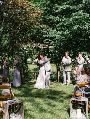 Rustic Backyard Ceremony at a Family Home