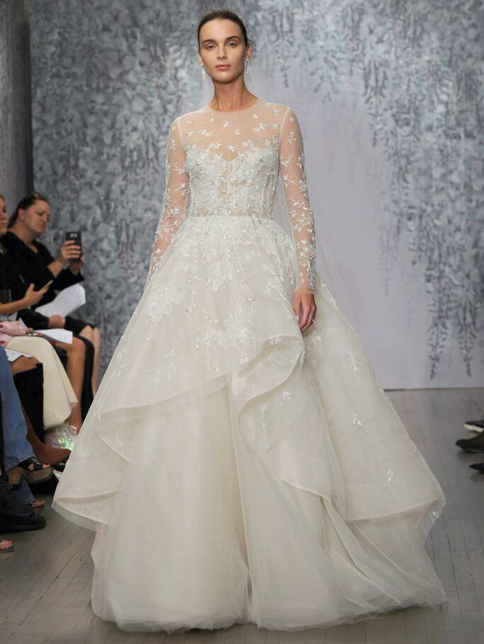 Monique Lhuillier Fall 2016 Collection ultra-feminine wedding dresses inspired by a romantic and opulent garden