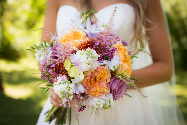 Rustic themed bridal bouquet