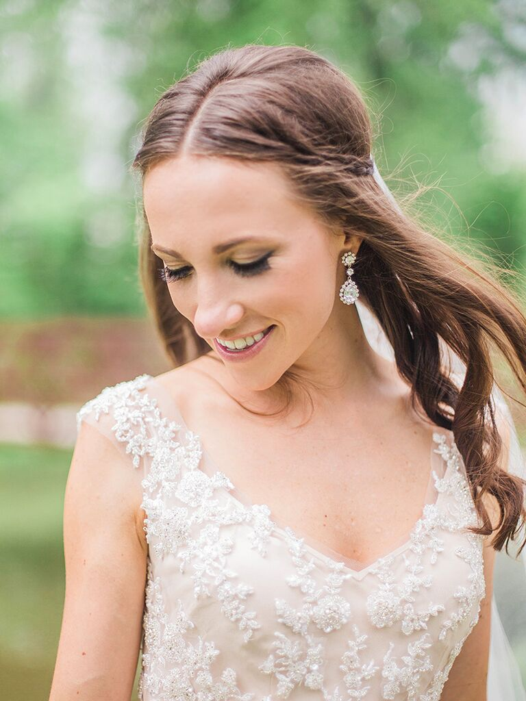 Boho wedding hairstyle with small braids