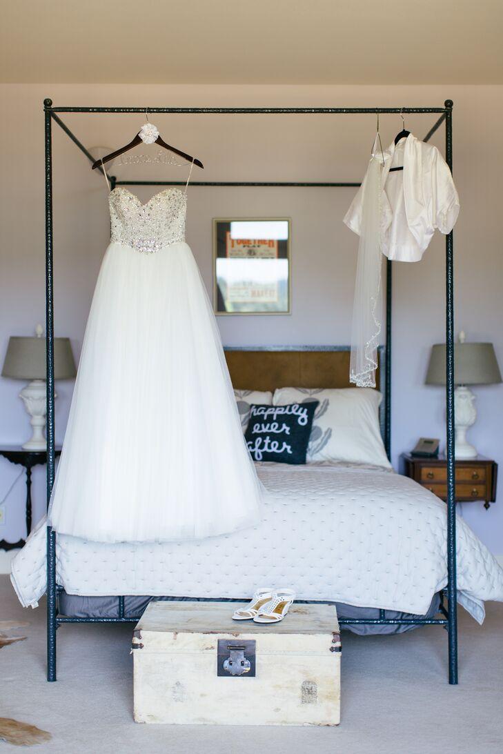 Ivory Wedding Dress, Jacket and Shoes