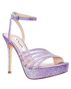 Nina Bridal Starla Purple, Silver Shoe