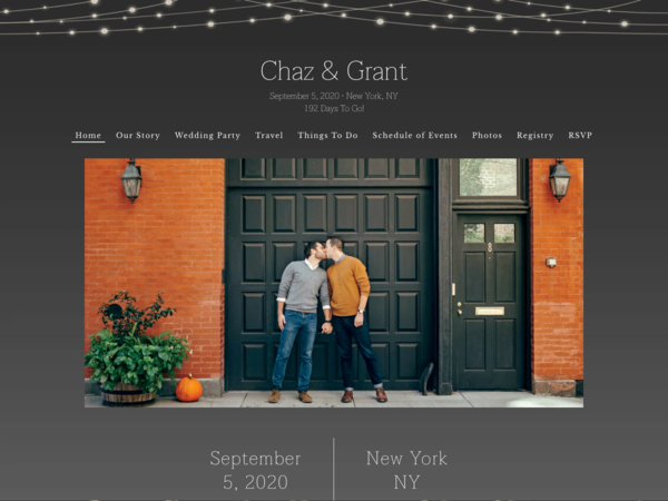 Glowing Bright Wedding Template, The Knot