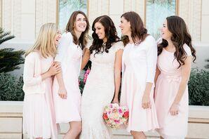 Casual Blush Bridesmaids Dresses in Gilbert, Arizona