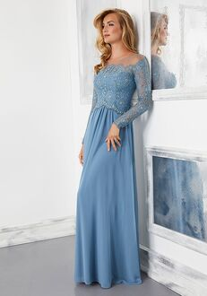 MGNY 72310 Silver,Blue Mother Of The Bride Dress